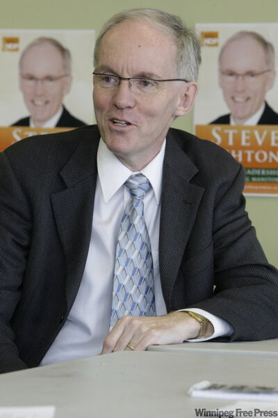 Steve Ashton is upset at the way union delegate credentials are distributed for NDP leadership vote.