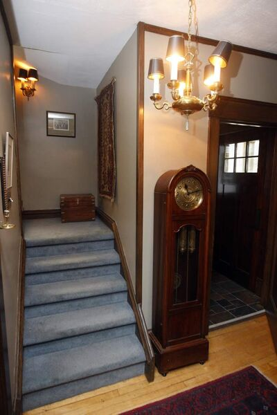 The interior staircase was put back to its intended position.