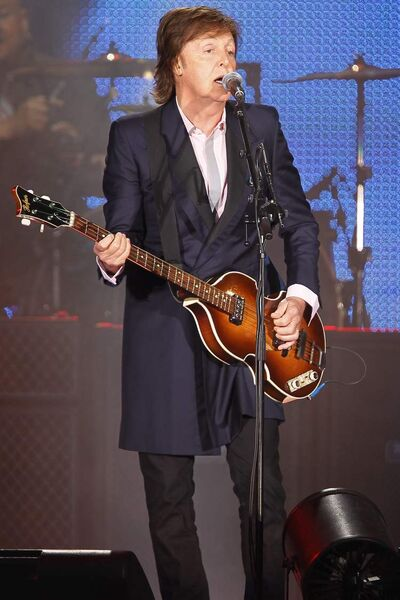 Paul McCartney performs in Winnipeg Monday.