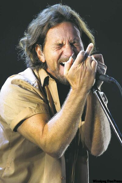 Pearl Jam performs at the MTS Centre in Winnipeg Saturday, September 17, 2011. (John Woods/Winnipeg Free Press)