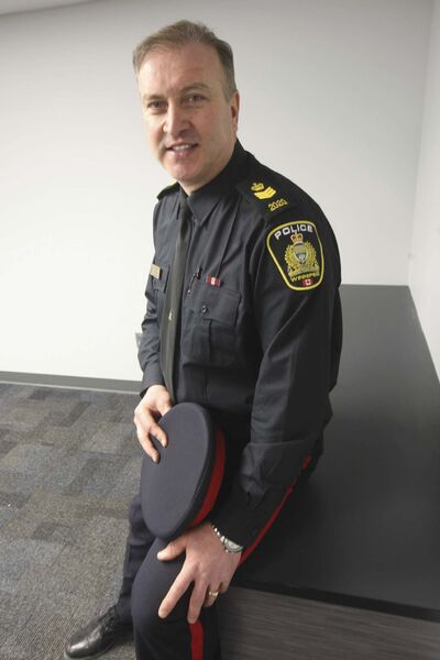 JOE BRYKSA / WINNIPEG FREE PRESS</p><p>Sgt. George Labossiere, co-ordinator of the police service&rsquo;s chaplaincy program, in the room that will be converted into a chapel.</p></p>