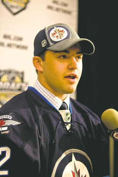 The Jets are hoping some of that famous Sutter DNA resides  in second-round pick Lukas Sutter.