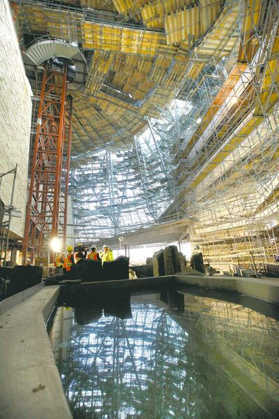 The museum's Garden of Contemplation is seen under construction in a September file photo.