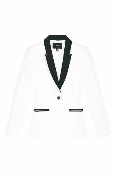 A white tuxedo blazer  from Jacob ($169)