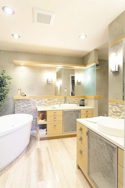A new ensuite was added during the reno, carved of an existing bedroom area.