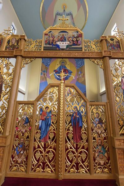 MIKE DEAL / WINNIPEG FREE PRESS</p><p>A detail of the Iconostasis at Blessed Virgin Mary Ukrainian Catholic Parish</p>