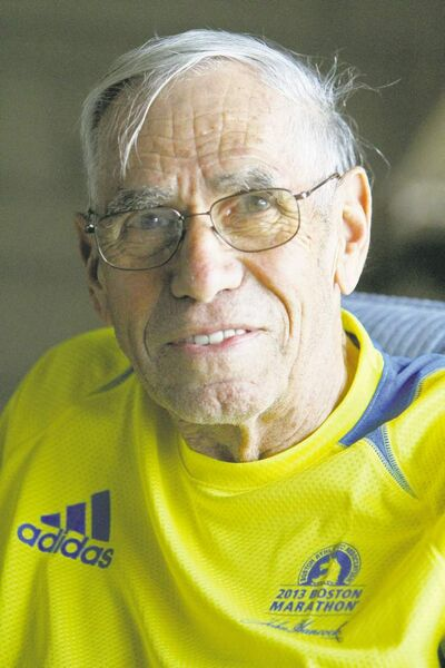 Bill Iffrig is the runner who barely escaped injury in the Boston Marathon explosions.