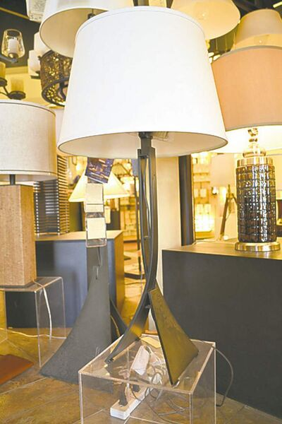 Hand-forged lamp (shade extra) by Hubbardton, USA, sold by Robinson Lighting.