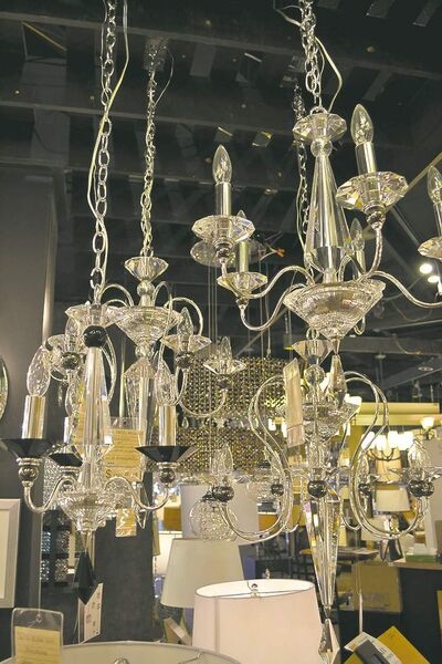 Traditional chandeliers are still popular.