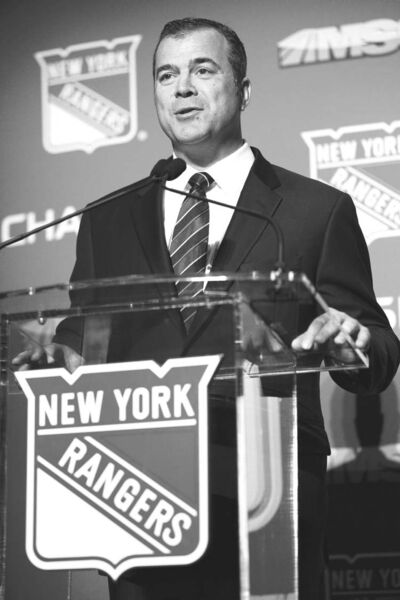 John Minchillo / the associated pressAlain Vigneault makes an address after being named the New York Rangers new head coach on Friday.
