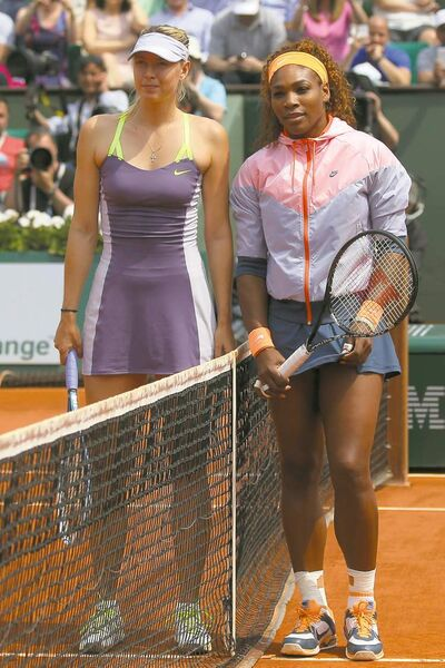 Michel Euler / the associated press archivesSerena Williams (right) and Maria Sharapova were pals before this year�s French Open. No more.