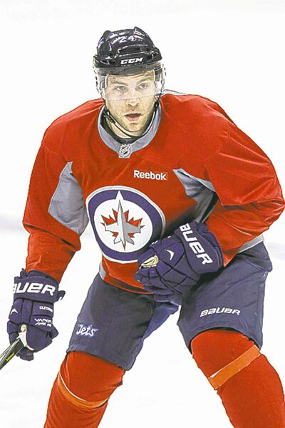 Mike Deal / Winnipeg Free Press archivesInjured blue-liner Grant Clitsome did not practise with the Jets Thursday.