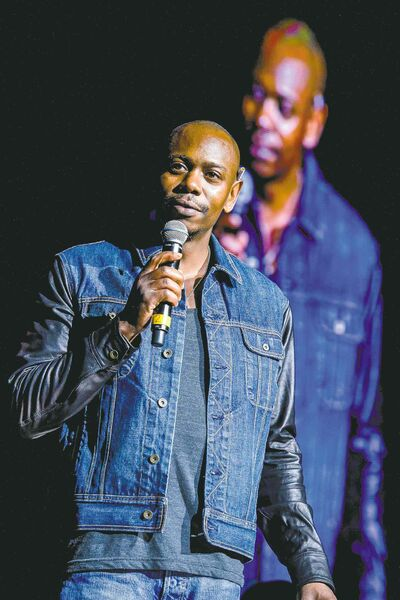 Dave Chappelle performs.