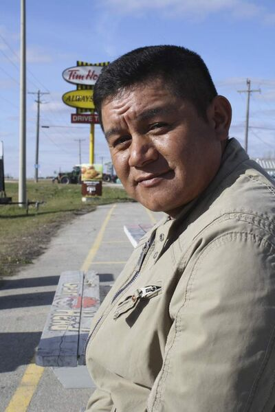 Luis Galvain is a migrant farm worker from Mexico.