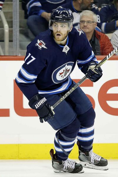 Winnipeg Jets' Adam Lowry has a little ginger in his moustache this year.