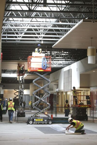 <p>The media toured the construction of the new factory outlet mall at Sterling Lyon Parkway and Kenaston Blvd. in late April.</p>