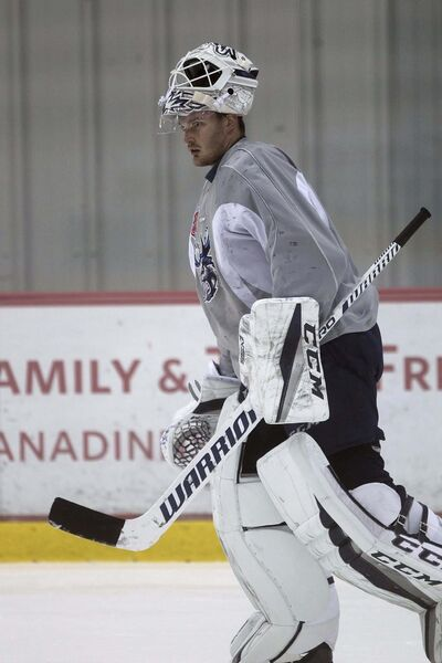 <p>Michael Hutchinson, a call-up and former Jet, may have a chance to start for the Panthers.</p>