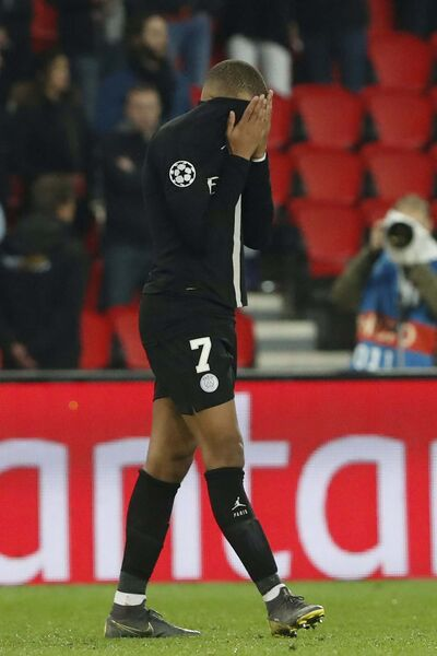 Thibault Camus / The Associated Press files</p><p>PSG forward Kylian Mbappé can't stand to watch his team lose to Manchester United during Champions League round-of-16 second-leg play Wednesday in Paris.</p></p>