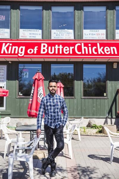 Aman Bajwa is too busy coming up with Indo-Canadian takes on butter chicken to stay on top of Game of Thrones. 'I haven't watched an episode.' (Mikaela MacKenzie / Winnipeg Free Press)