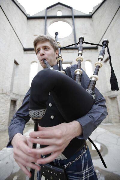 John Woods / Winnipeg Free Press files</p><p>Doug's son, Liam Speirs, started playing the pipes when he was just 10 years old.</p>