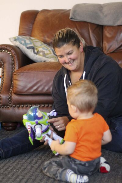 Kellen Taniguchi</p><p>Sara Singer has been on a wait list for child care for 19 months and still hasn't received a call. She had to stay home without pay for a month to take care of her son, Ryker.</p>