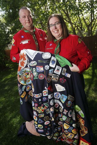 Will and Candace Huggard met as teenagers while volunteering and even had a scouting-themed wedding. (John Woods / Winnipeg Free Press)</p>