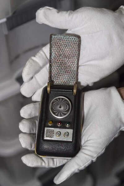 "A ""communicator"" prop from the Star Trek series."
