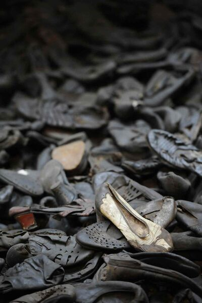 Footwear of Holocaust victims is displayed at the Washington, D.C., museum.