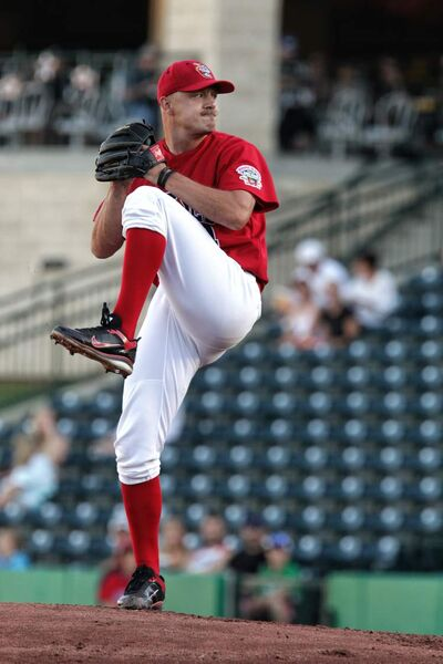Winnipeg Goldeyes starting pitcher Ace Walker