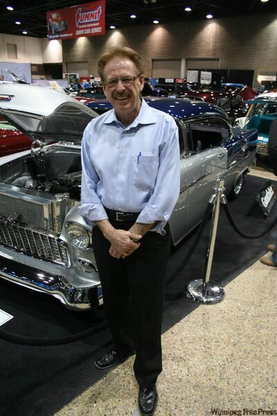 Jason Gauthier from Gauthier Auto Group with one of 'The Big Guy's' prized classic Chevrolets.