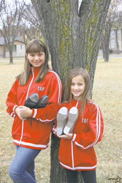 Sisters Madyson (left) and Myah Richard are headed to Germany in December for the World Tap Dance Championships.