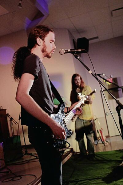 (From left) Oak Bluff musician Luke Anseeuw and Jon Brooke will perform with their bandmates in The Project at the Hot Blizzard Folk Festival in Portage la Prairie on Feb. 4.