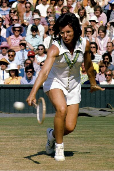 Billie-Jean King at Wimbledon.