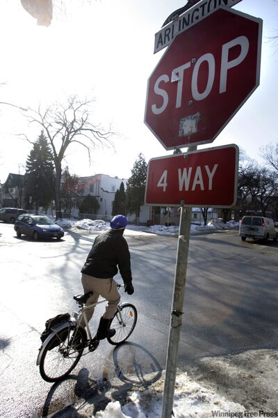 A committee will review existing stop signs with an eye to eliminating some.