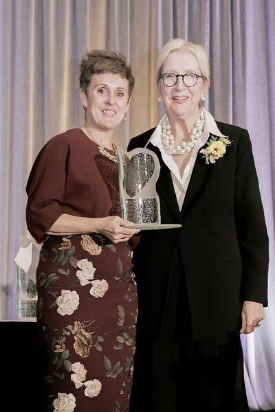Diane Boyle (right) received the outstanding professional fundraiser award from the Association of Fundraising Professionals on Nov. 15.
