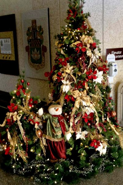 Christmas decorations are bringing holiday cheer to the foyer at Winnipeg's City Hall.