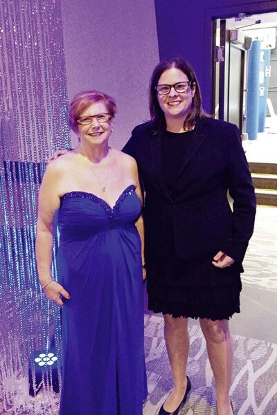 Tuxedo MLA Heather Stefanson (right) with victims advocate Karen Wiebe. (SUPPLIED/THE SOU'WESTER/CANSTAR)