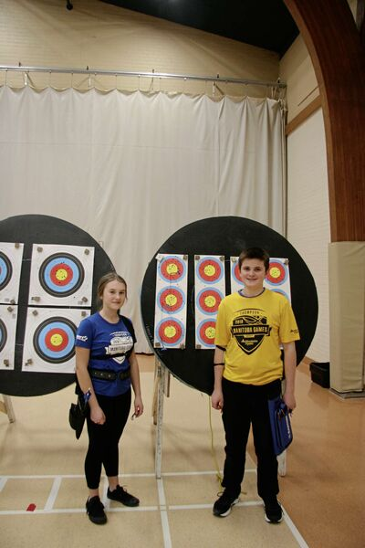 Westwood Collegiate student Cleo Wermann-Thorn with her mixed team partner Kadin Giebelhaus at a recent Team Manitoba practice. Both athletes are headed to the Canada Winter Games in Red Deer, Alta., in February.