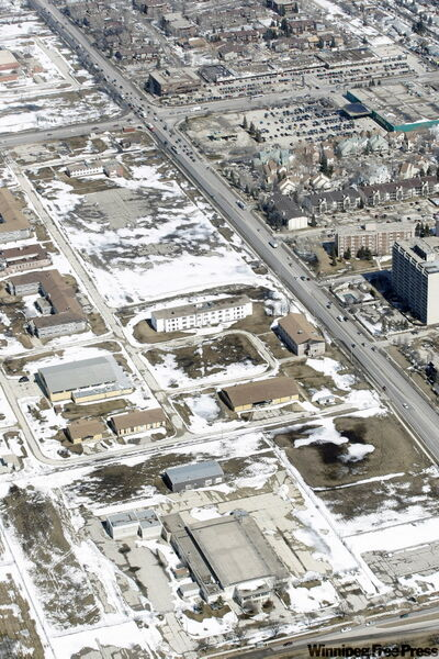 The former Kapyong Barracks military base in Winnipeg, as seen from the air in April.