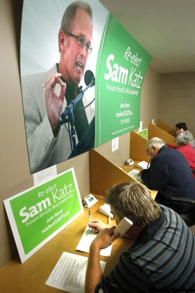 Sam Katz's campaign headquarters.