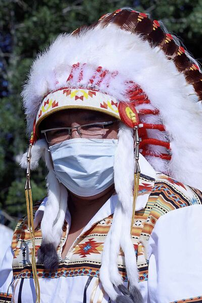 Then-chief of Garden Hill First Nation David Harper, wearing mask, was proactive in ensuring his community was ready for the H1N1 outbreak in 2009.