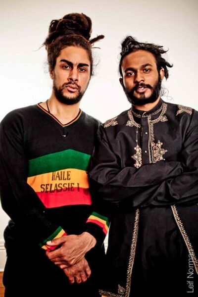 Martin Valach, left, and Franklin Fernando have blended reggae with Tamil music to create RasTamils.