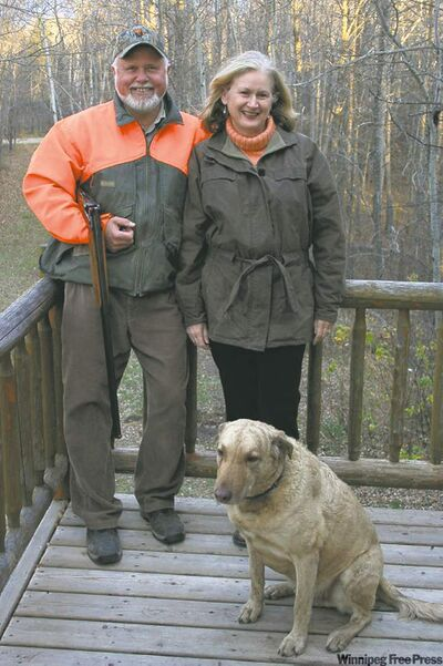 Robert Sopuck, with the inestimable Caroline and loyal dog Mountie, has Ottawa in his sights.