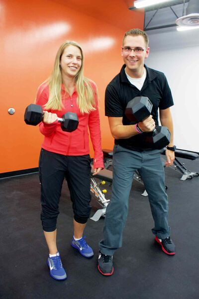 Benefit Rehabilitation and Strength Training co-owners Krista Floren and Cody Bruce-Smith.