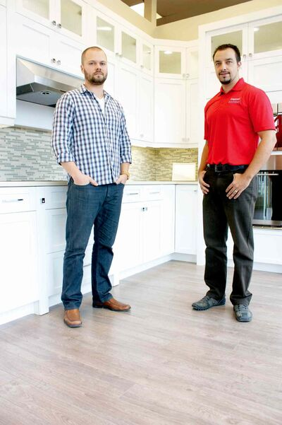 Inspired Comfort co-owners James Friesen and Erny Penner are shown in the Nairn Ave. showroom.