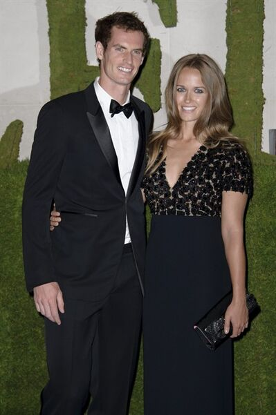 British tennis player and winner of Wimbledon 2013 Andy Murray and his partner Kim Sears arrive for the Wimbledon Champions Dinner 2013, in London, Sunday, July 7, 2013. (Photo by Jonathan Short/Invision/AP)