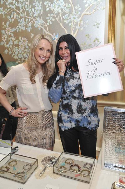 "Kelli Miller (left) pictured with Angela ""Big Ang"" Raiola, star of the reality television show Mob Wives, at the second annual Oh Canada Gift Lounge."