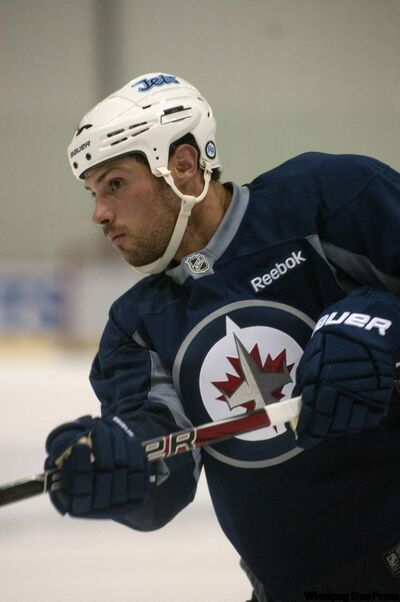 Zach Bogosian arrived in Winnipeg on Sunday and hit the ice with his teammates at the MTS Iceplex on Monday.