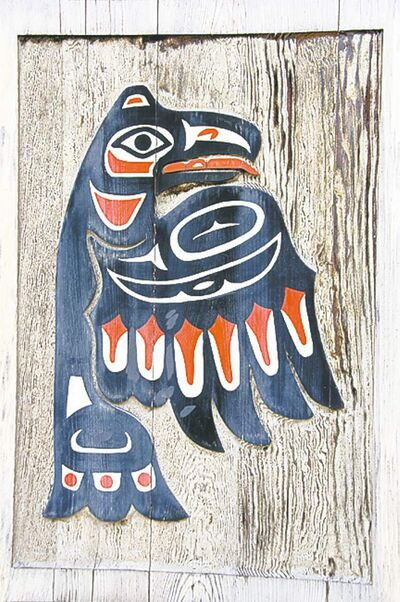 Wood carvings decorate the traditional Big House in Klemtu, a small Kitasoo-Xai'xais First Nations village on B.C.'s spectacularly beautiful central coast.