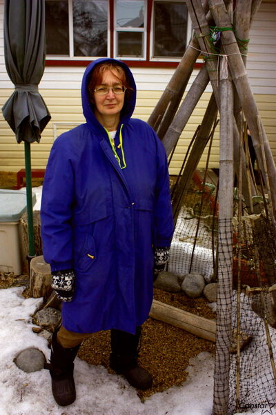 Elmwood daycare operator Cheryl Tremblay is shown in her backyard. Tremblay will participate in Manitoba Nature Action Collaborative for Children's Two Weeks Outdoors campaign for the second time this June.